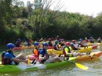 Compartiendo expedicion en canoa