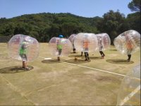 Prueba con los bubble soccer