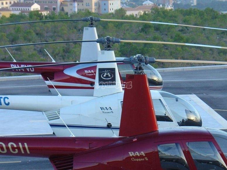 Los rotores de los helicopteros