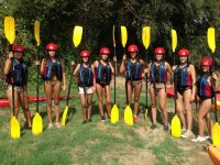 Palas amarillas para los kayaks