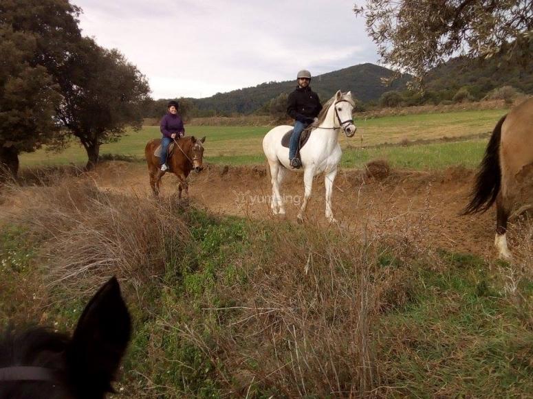 Recorrido a caballo en Barcelona