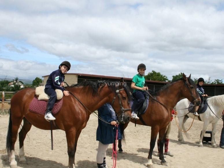 wIn a horse ride class