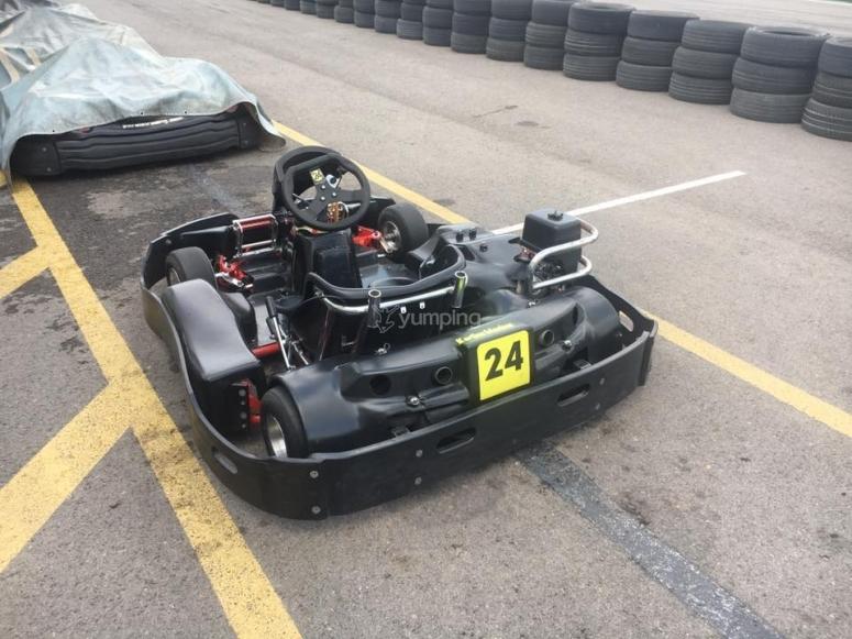 Backview of the kart