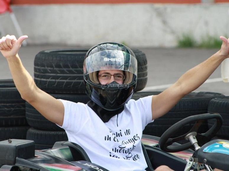 Vencedor de la carrera de karting