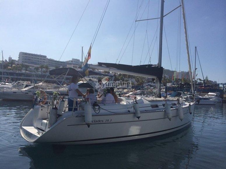 Boat near the port