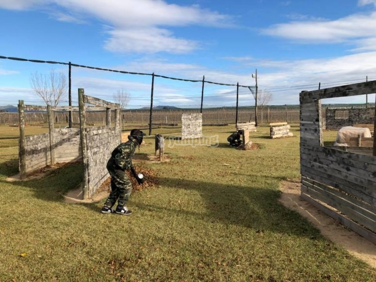 Paintball match in Sant Pere Pescadir