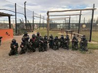 Paintball players in Sant Pere Pescador