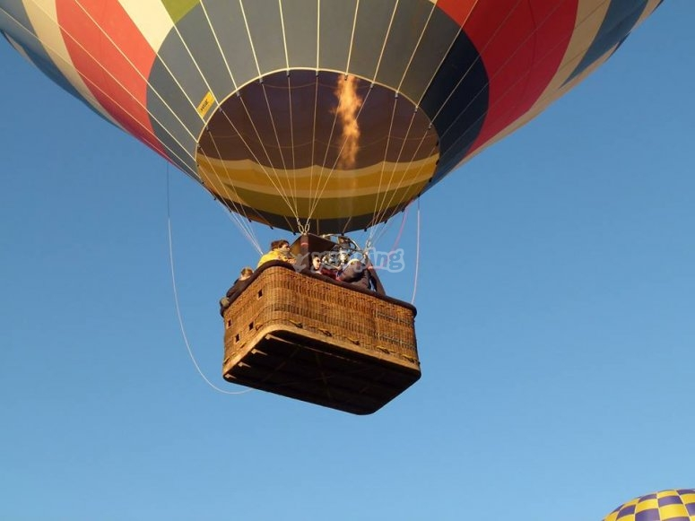 Ascending with the balloon