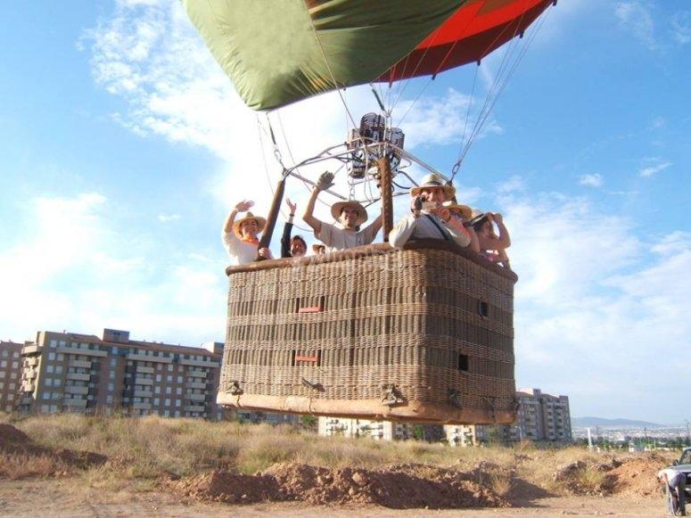 Despegando a bordo del globo