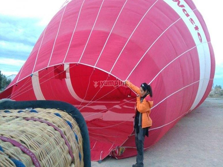 hinchado del globo