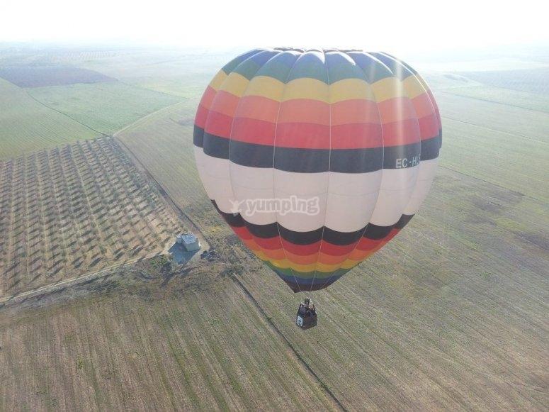 Balloon flight Doñana