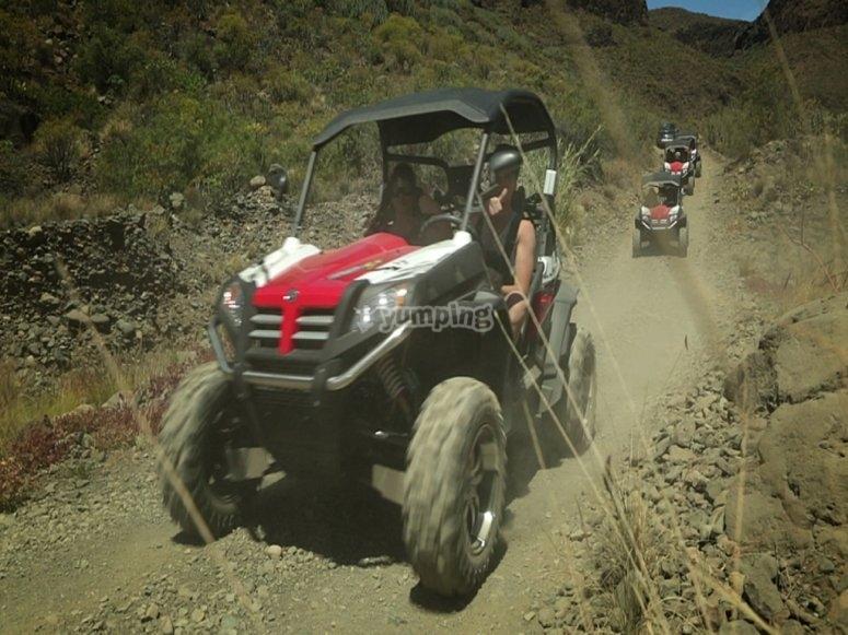 Conducción de buggy por camino de tierra