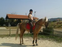 In our track in Queizas by horse