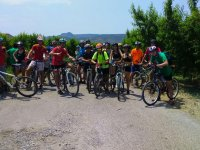 Grupo de excursion en bici