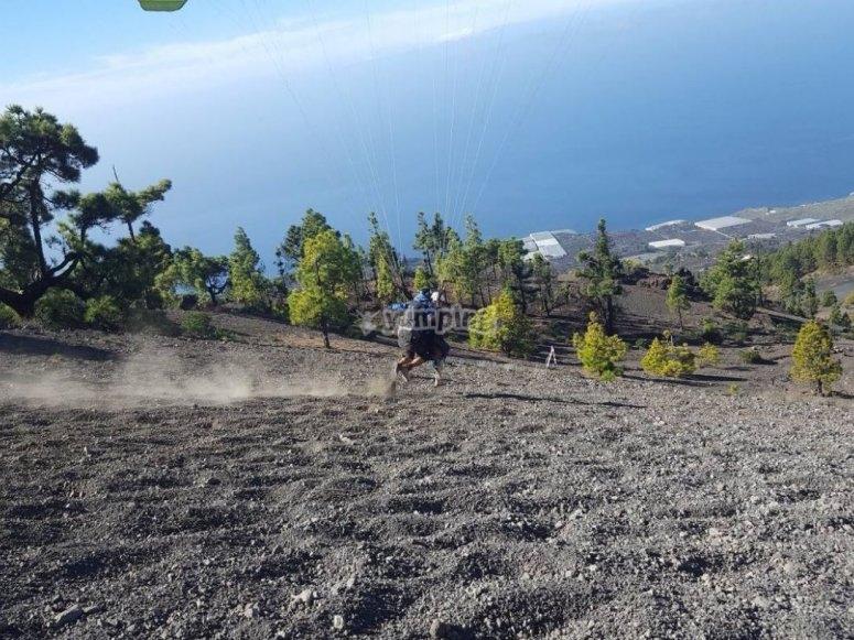 Carrera de despegue junto al mar en La Palma