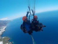 Vuelo en parapente tandem costa de La Palma
