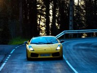 Lamborghini on the road in Asturias