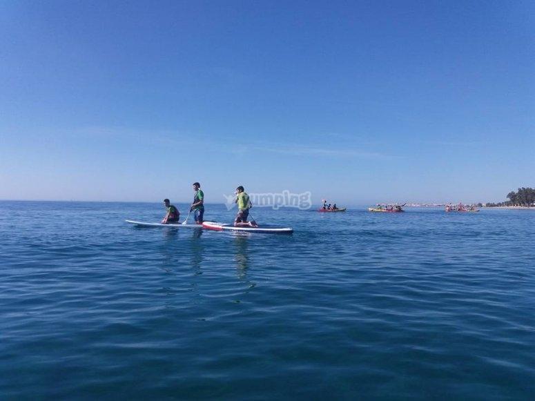 En las tablas de paddle surf