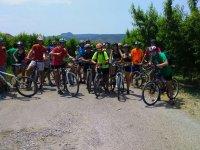 Grupo de excursion en bici