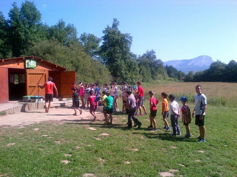 Monitores y peques parque aventura Otxandio