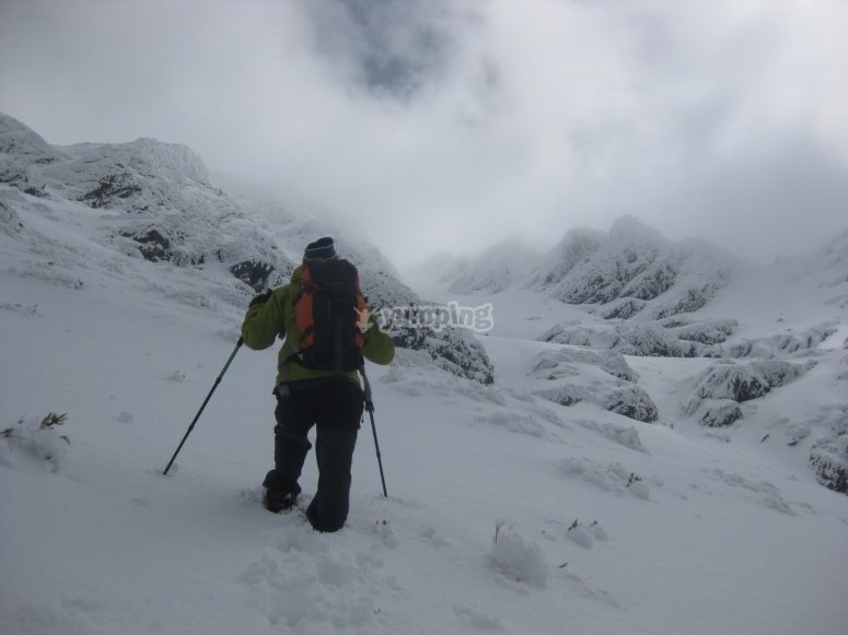 Elige una aventura en la nieve