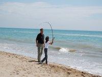 Pescando en familia