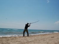 家庭钓鱼投球甘蔗