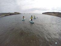 Comenzando la sesion de paddle surf en Arona