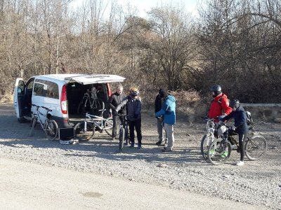 Discesa in mountain bike dall