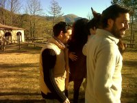 Miguel Martin during an emotional intelligence course with horses