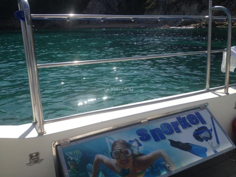 布拉瓦海岸浮潜船
