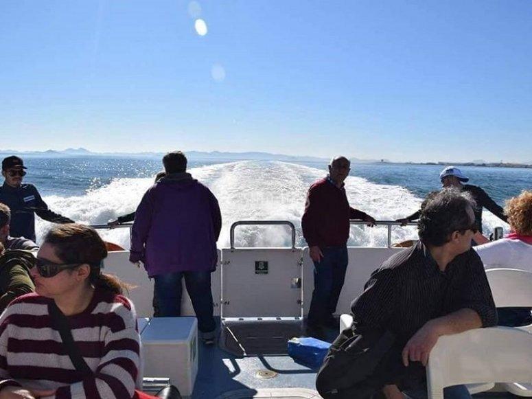 Passeggeri del nostro traghetto nel Mar Menor