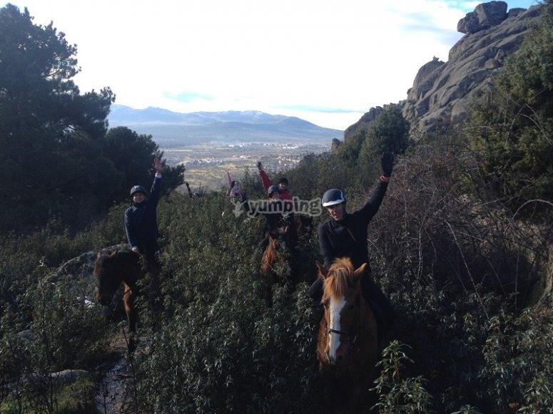 佩德里萨骑马在La佩德里萨