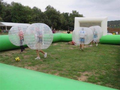 Un'ora di Bubble soccer a Logroño