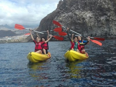 Kayak y snorkel con delfines y tortugas Tenerife