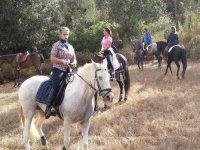 Descansamos con los caballos