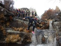 Jumping in the Cerves ravine