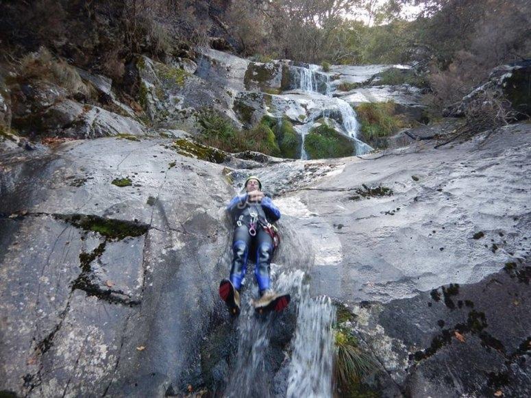Slide in the Cortella ravine