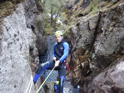 Advance Level Canyoning in the Cortella Ravine