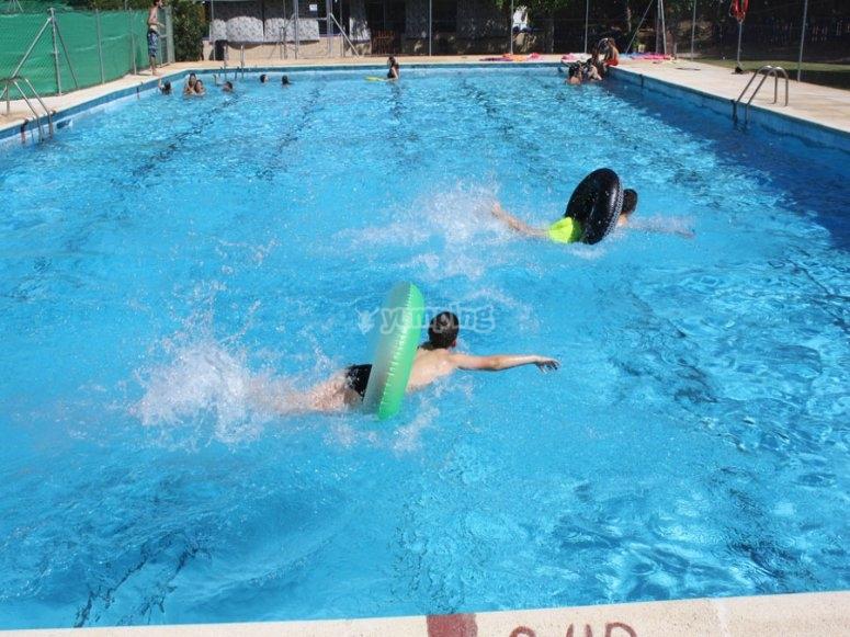 Actividades en la piscina