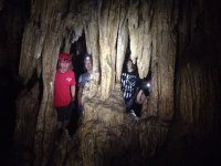 Young people in the cave