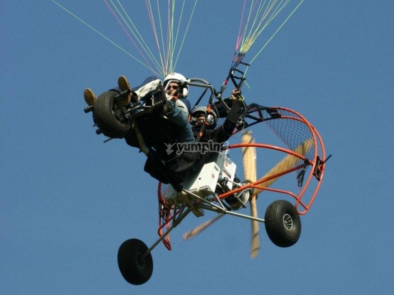Volando en trike