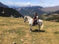 Montar a caballo en el Montseny 2 horas con clase
