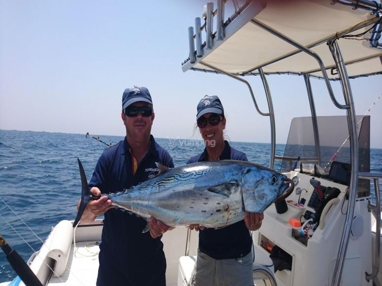Pesca en curricán