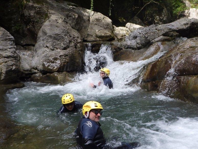 Fun times in the Miraval water ravine