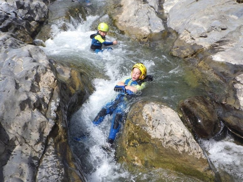 Slide inside the ravine of Miraval
