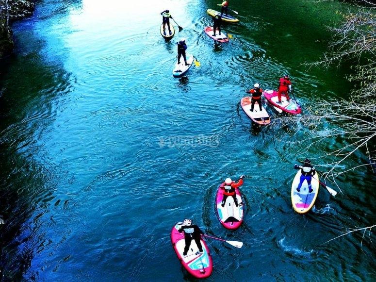 划桨冲浪练习