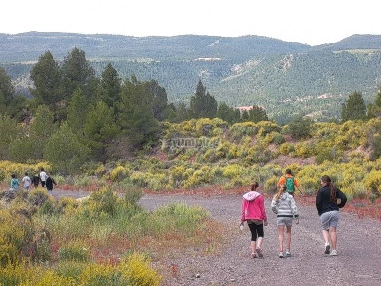 探索Cofrentes徒步旅行的角落