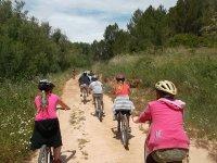 通过Cofrentes的自行车路线