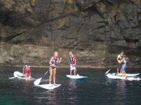 Haciendo paddle surf en Valencia